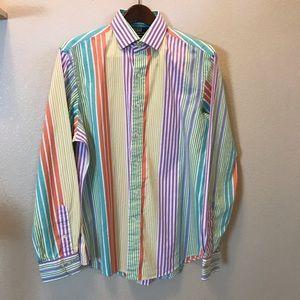 🛍Polo by Ralph Lauren Bright Stripe Button Shirt